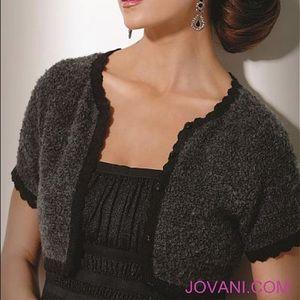 Jovani Dresses - JOVANI GREY EVENING DRESS